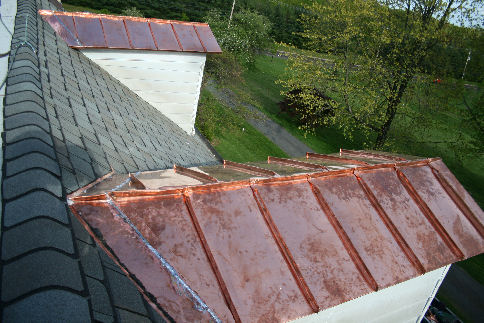 Metal roof standing seam metal roof copper for Copper standing seam roof