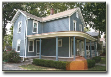Historic Restoration Project James HArdie Siding & Insulation Bucks County